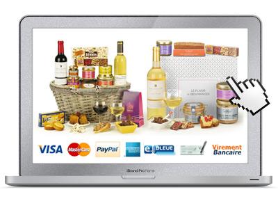 Commande en ligne de cadeaux gourmands